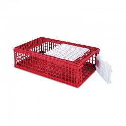 Jaula plástico para transporte de aves