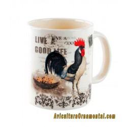 Taza para infusiones cerámica Gallo
