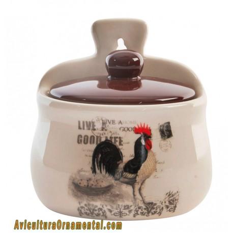 Salero de cerámica Gallo