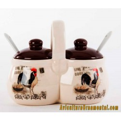 Salseras de cerámica Gallo