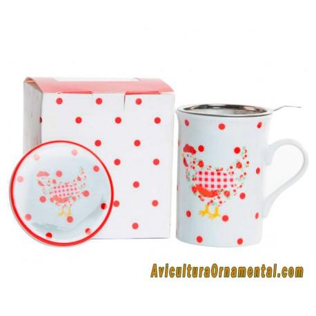Taza mug infusiones Gallina Roja