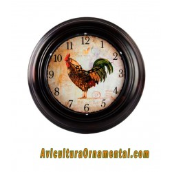 Reloj pared metal gallo1