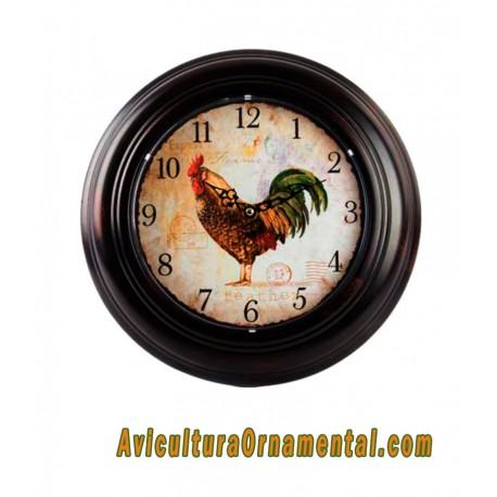 Reloj pared metal gallo1