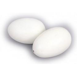 Huevos falsos antipicaje madera para gallinas o palomas
